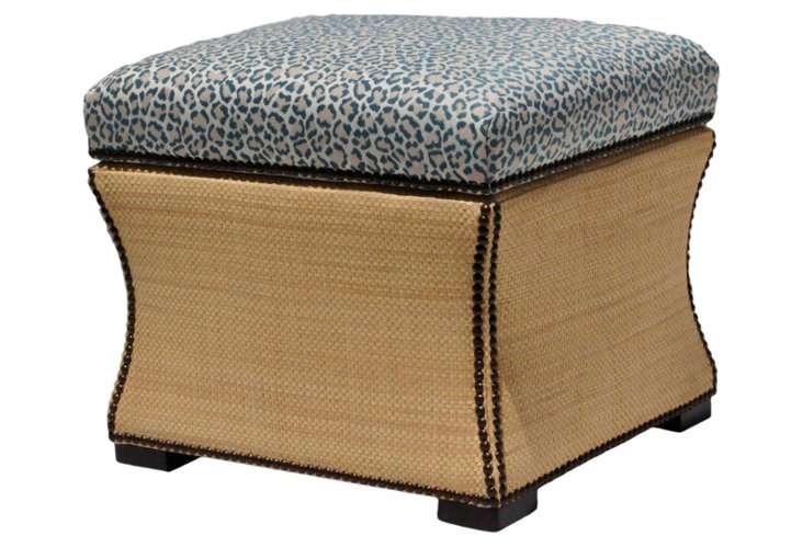 Claire Storage Ottoman, Animal Print
