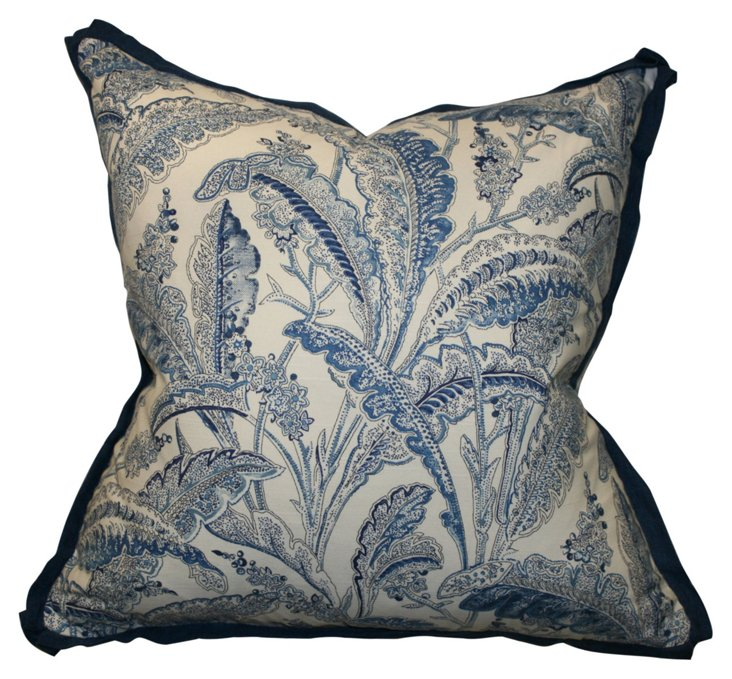 Sanabelle 22x22 Cotton  Pillow, Blue