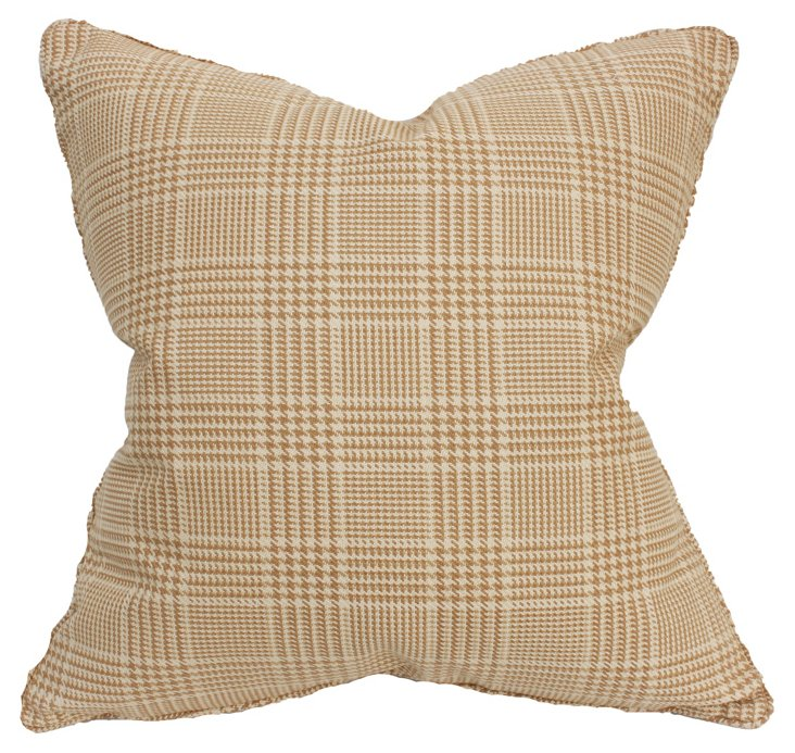 Jax 22x22 Cotton Pillow, Caramel