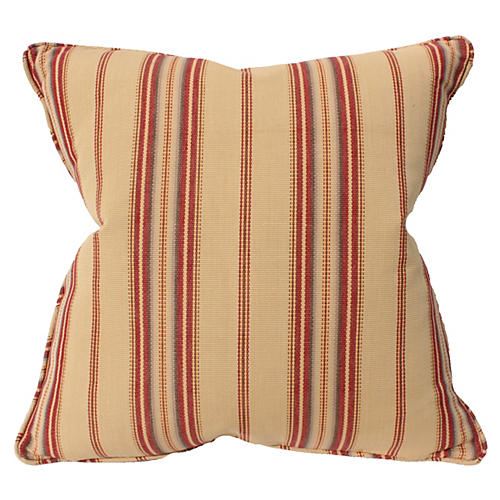 Harvest 22x22 Cotton Pillow, Beige