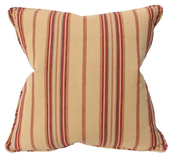 Harvest 22x22 Cotton Pillow, Beige