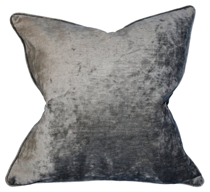 Park Ave 22x22 Pillow, Silver
