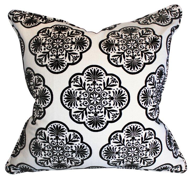 Destiny 22x22 Cotton-Blend Pillow, Black