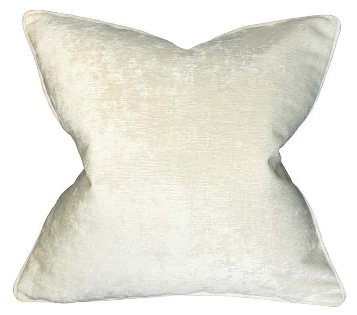 Palermo 22x22 Pillow, Ivory