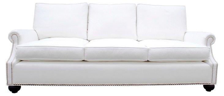 "Harbor 90"" Linen Sofa, Oyster"