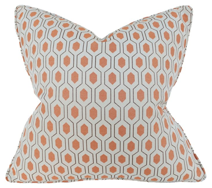 Euclid 22x22 Pillow, Apricot