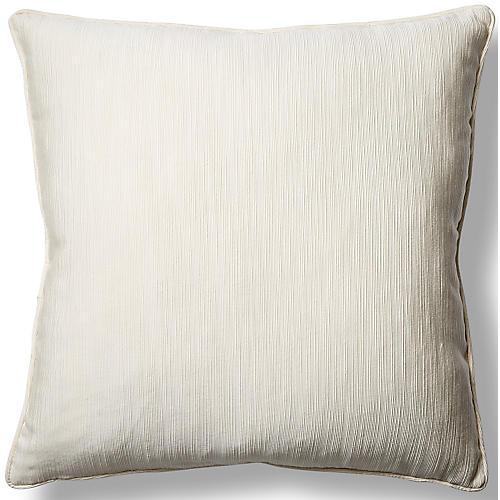 Elgin Cloud 22x22 Pillow, White