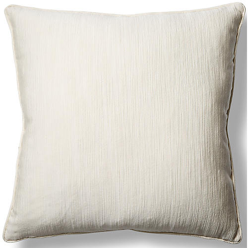Elgin Cloud 22x22 Pillow, White