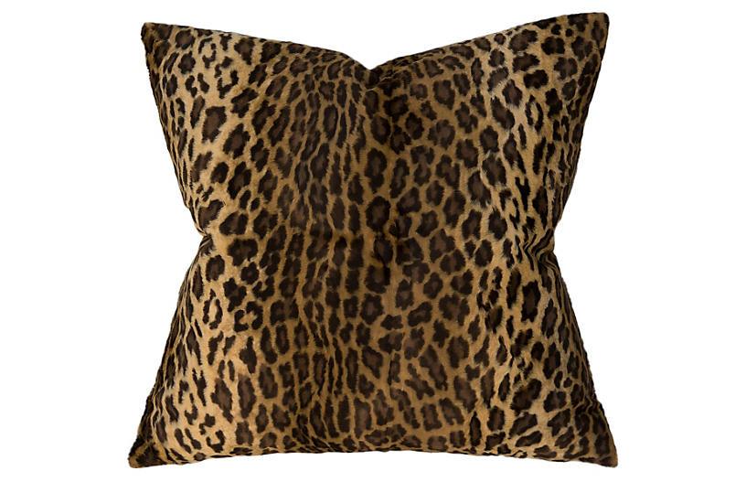 Leopard 22x22 Pillow, Gold
