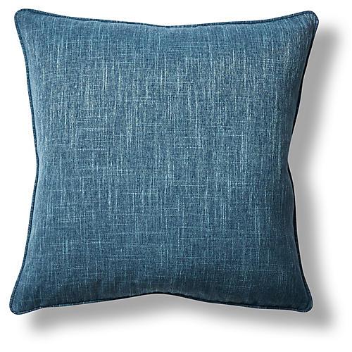 Orissa 22x22 Throw Pillow, Denim
