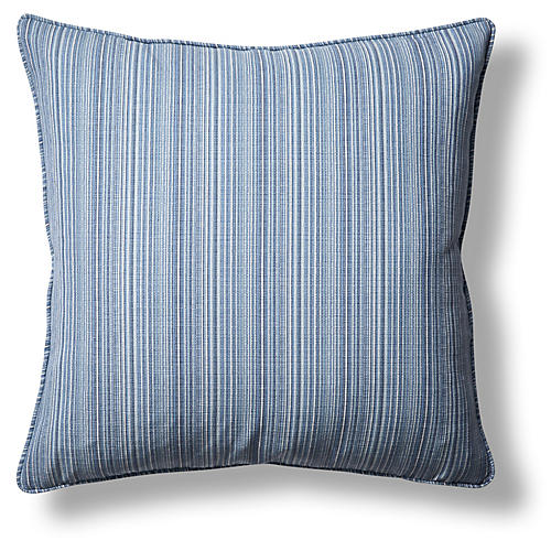 Wynn 22x22 Throw Pillow, Blue/Multi