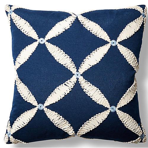 Windward 22x22 Throw Pillow, Navy