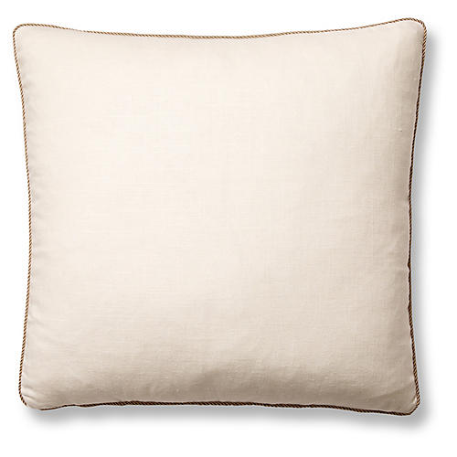 Jefferson 22x22 Pillow, Cream