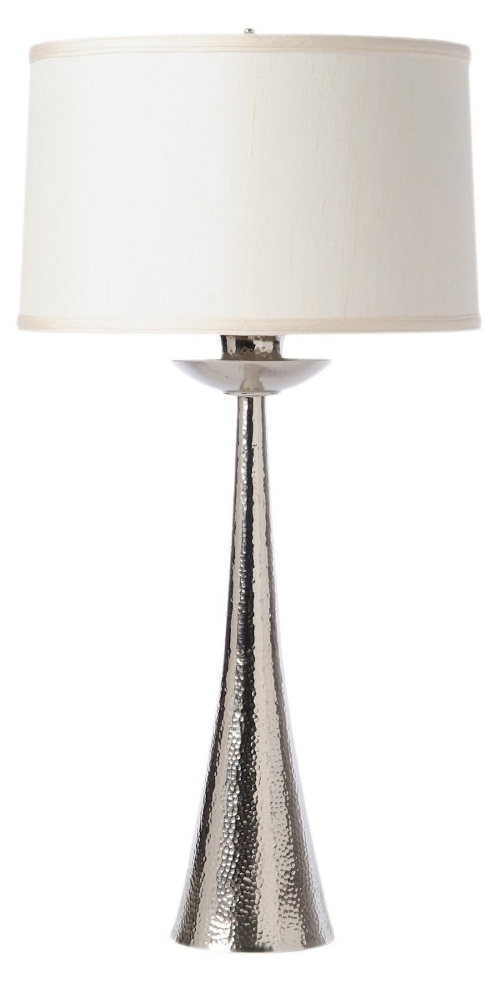 Hammered Candlestick Table Lamp