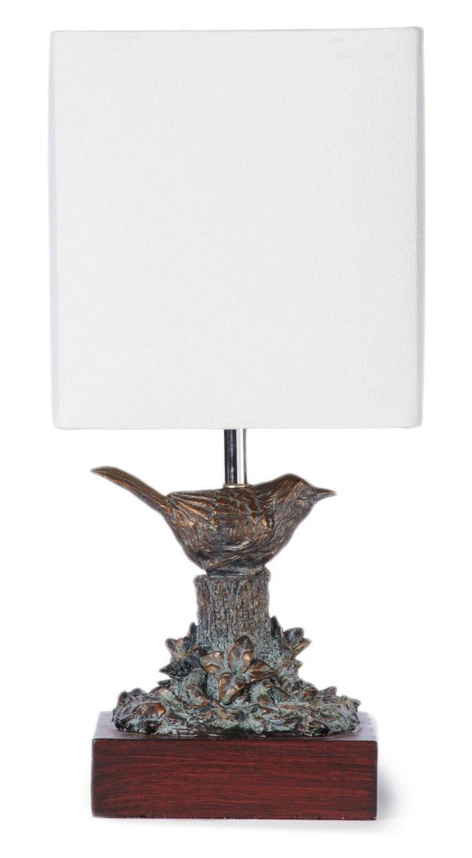 Wren Table Lamp, Zinc