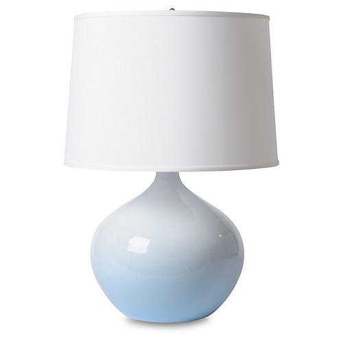 Blue Moon Table Lamp, Light Blue