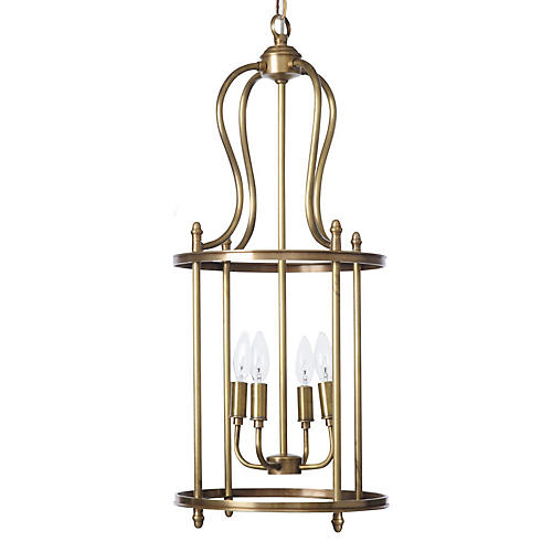 Lantern Pendant, Antiqued Brass