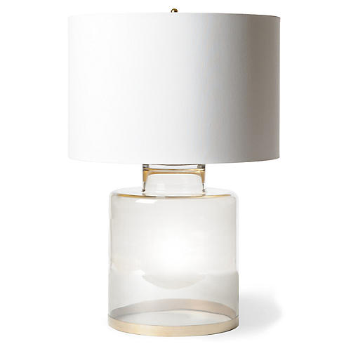 Smoked Table Lamp, Clear/Gold