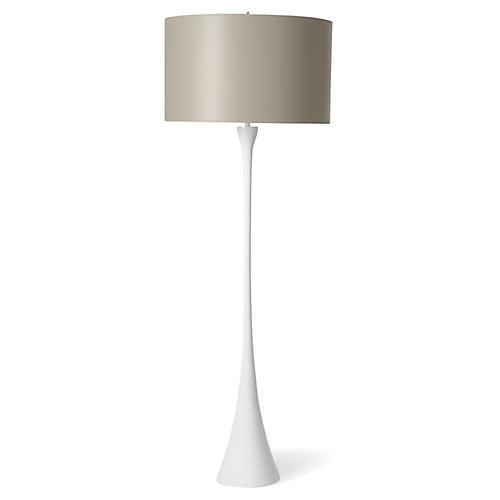 Olympia Floor Lamp, White