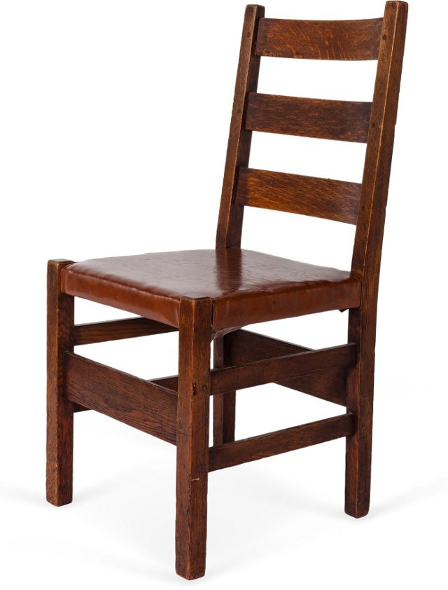 Gustav Stickley Ladder-Back Side Chair