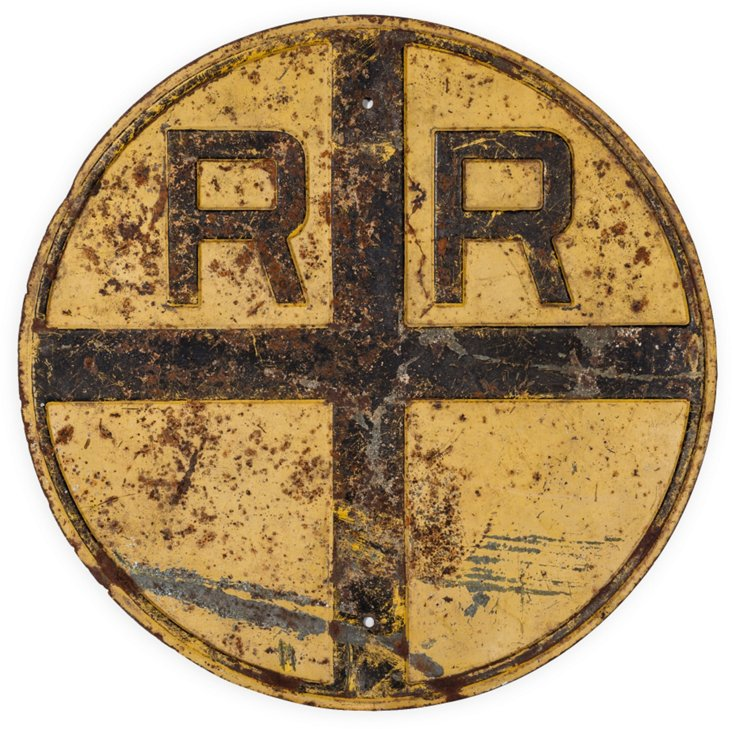 Rare Railroad Crossing Sign