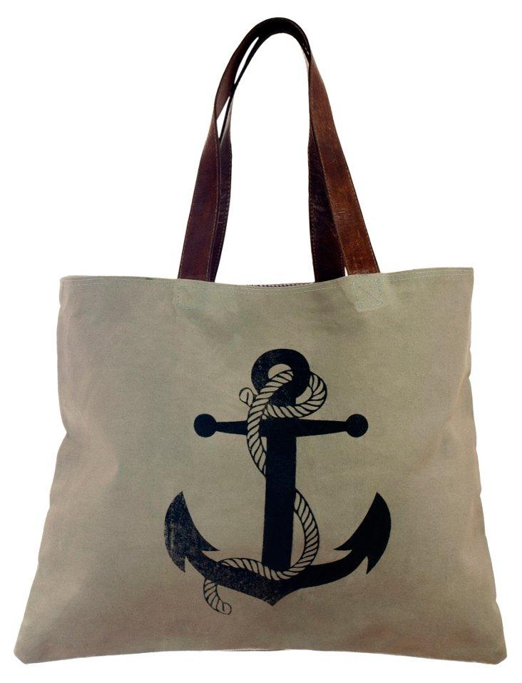 Canvas Anchor Bag, Gray