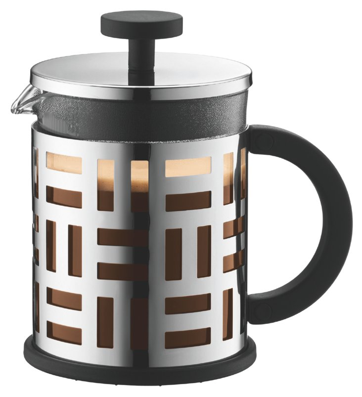 4-Cup Geometric Coffeemaker, Silver