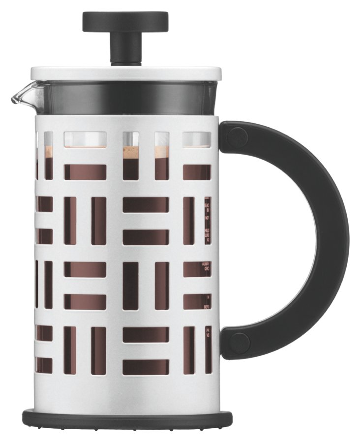 3-Cup Geometric Coffee Maker, White