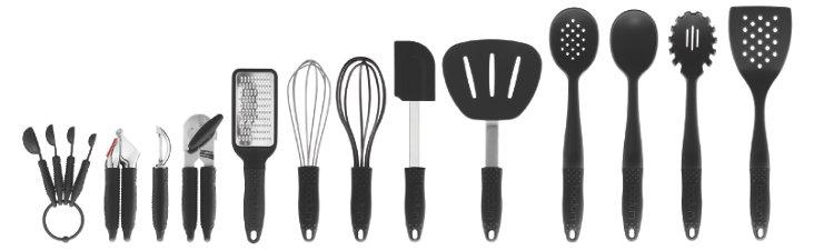 13-Pc Gadget Line Set, Black