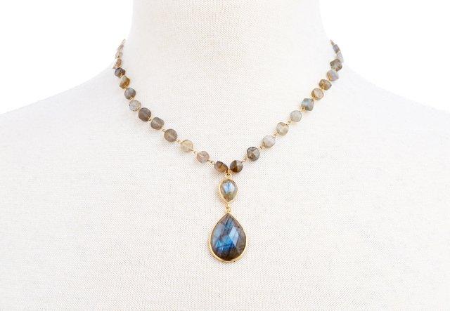 14K Gold & Labradorite Pendant Necklace