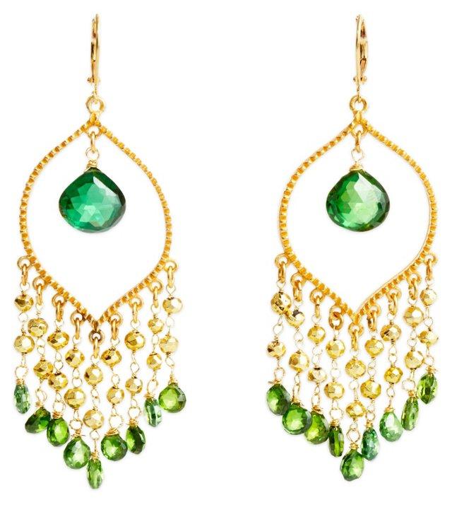 Peridot Party Earrings