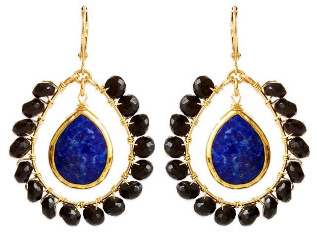 Blue Lapis Doorknocker Earrings
