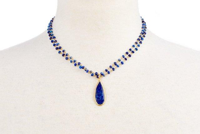 Midnight Blue Lapis Necklace