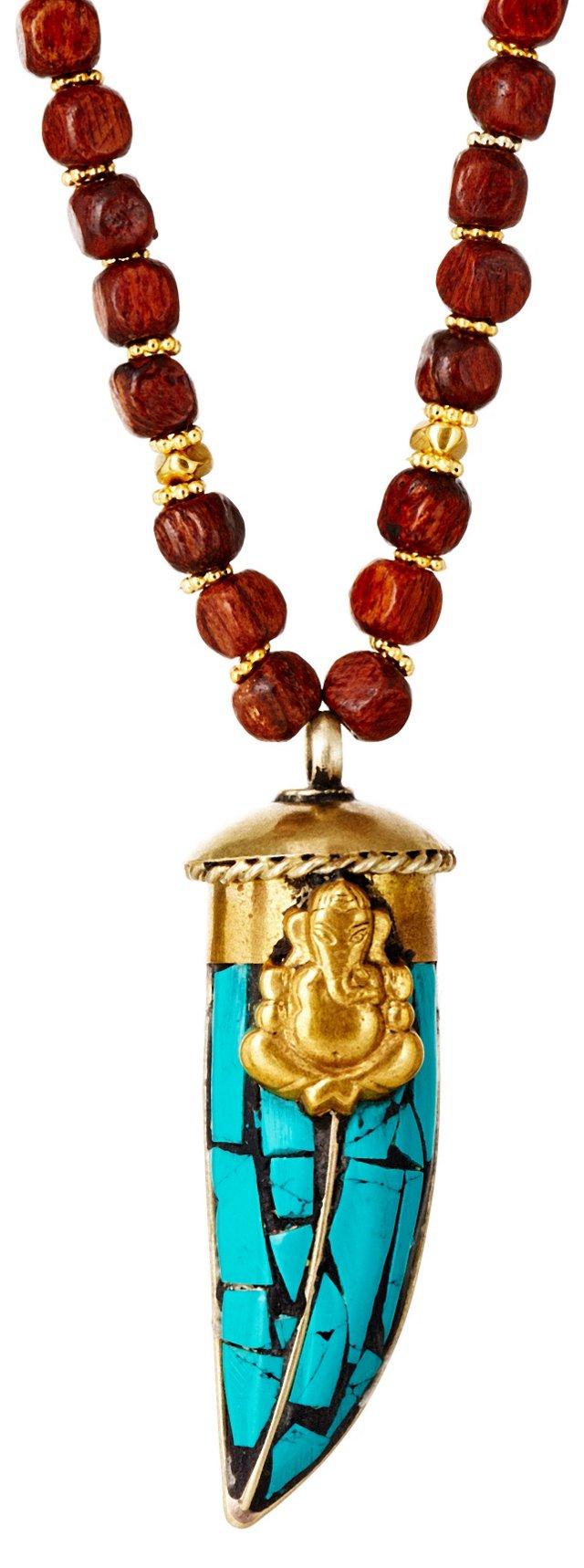 Turquoise Horn Pendant