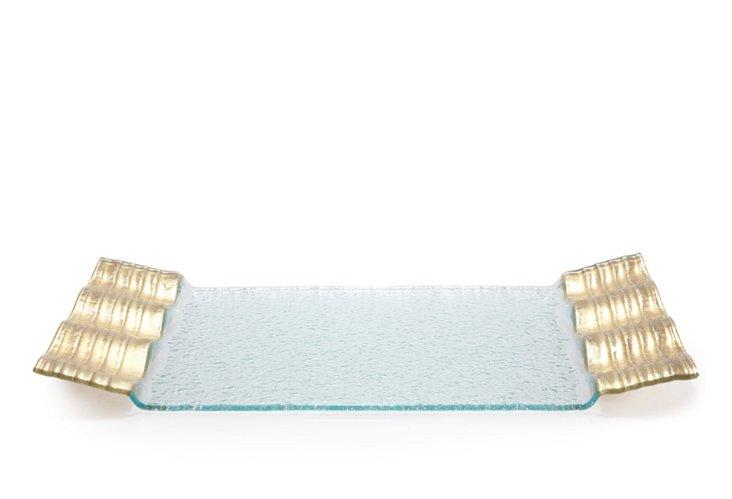 Rectangular Gold Wave Tray