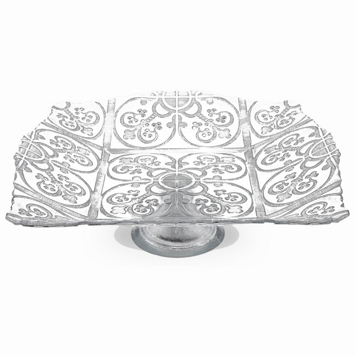 Silver Footed Guinnevere Platter, 12""