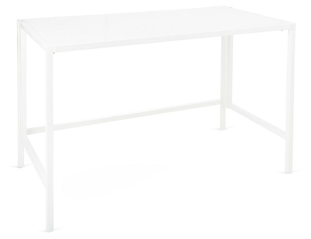Luna Folding Desk, White