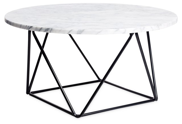 Cleo Marble Coffee Table, Black