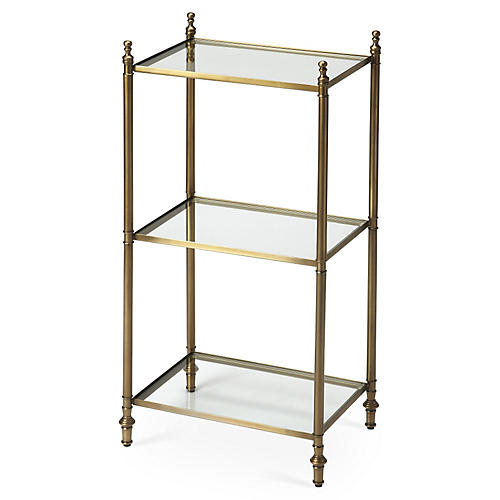 Kate Shelved Side Table, Gold