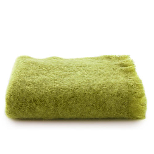 Mohair Throw, Lime