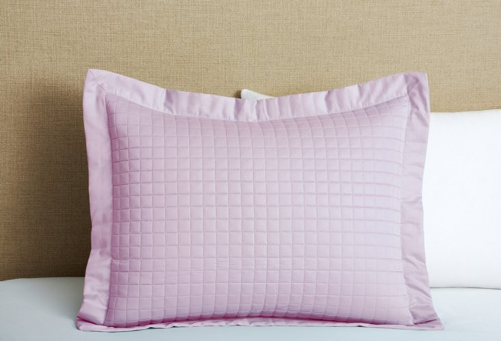Cotton Quilted Sham, Lilac