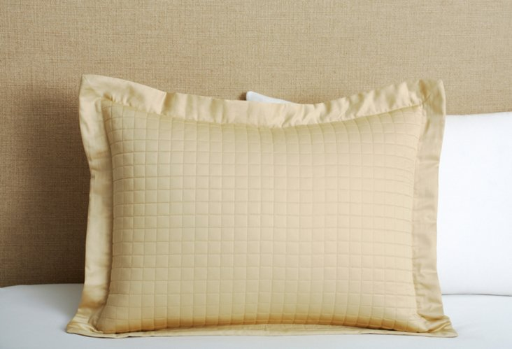 Cotton Quilted Sham, Taupe