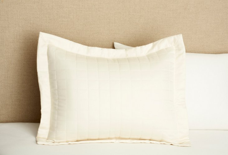 Quilted Sham, Natural