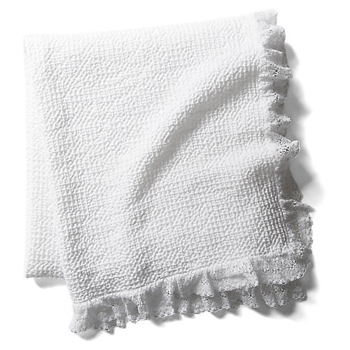 Sara Throw, White