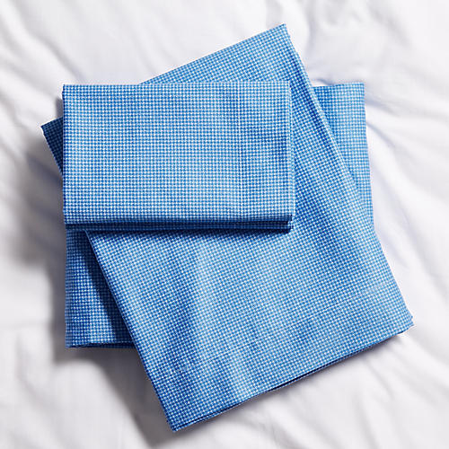 Baskerville Sheet Set, Blue