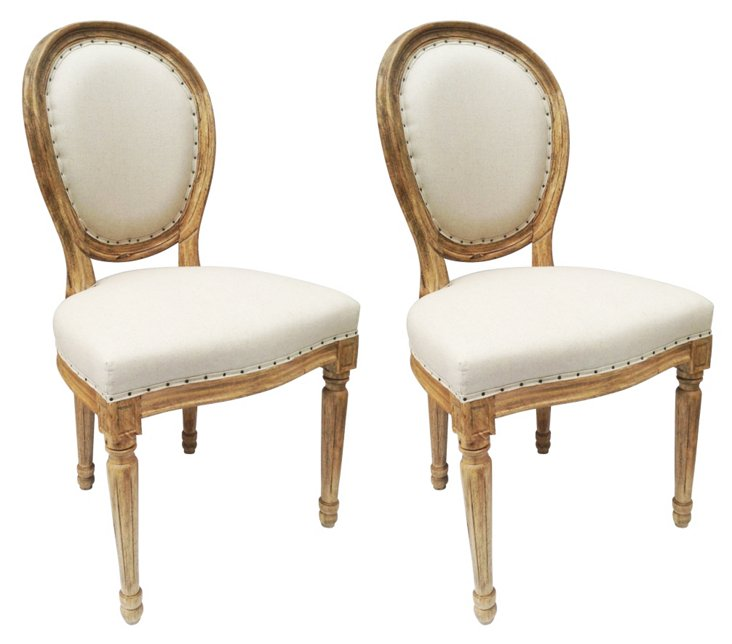 Beatrix Dining Chairs, Pair