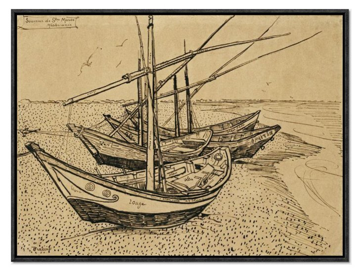 Gogh, Boats At Saintes-Maries-De-La-Mer