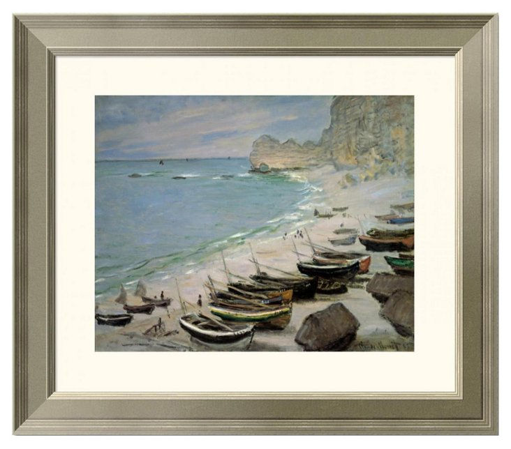 Monet, Boats on the Beach at Étretat
