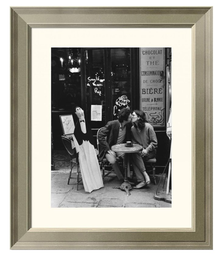 Turnley, Kissing at Cafe Table, Paris