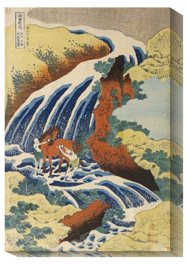 Hokusai, Two Men Washing a Horse